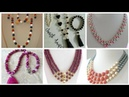 Beautyful pearl necklace Designs For Girls