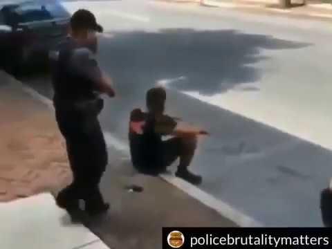 Dude was unarmed and harmless but the stupid cop still felt like tasing him