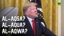 Al-Awkward? Trump renames holy Al-Aqsa mosque as he unveils Middle East 'peace plan'