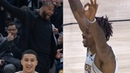 Dwight Howard shocks teammates after hits a three pointer Lakers vs Jazz