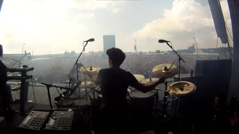 Hadouken Parasite Reading Festival 2013 Drumcam