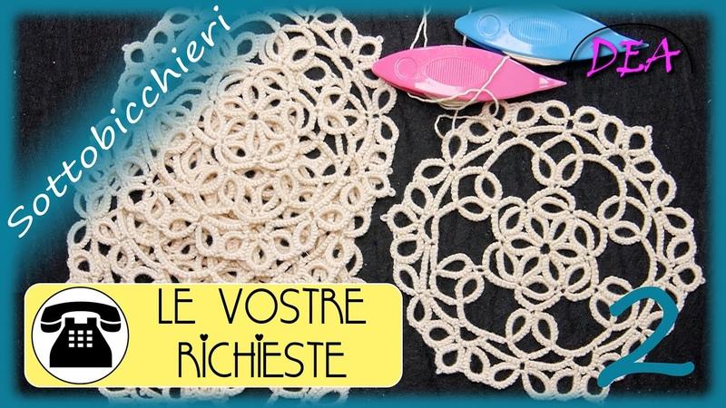 14°T P2°n I Sottobicchieri Split Ring Cerchi ed Archi da 1 2 Picot Split Chain e Mock Picot