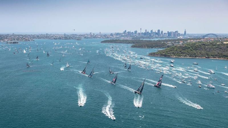 Rolex Sydney Hobart Yacht Race 2019 26 December 75th anniversary edition is underway