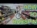 ОБУЧАЛКА НА БАРСПИН/ВОРВАЛСЯ В ТОРГОВЫЙ ЦЕНТР НА ВЕЛИКЕ/HOW TO BARSPIN ON BMX, MTB/ТРЮК ДЛЯ НОВИЧКОВ