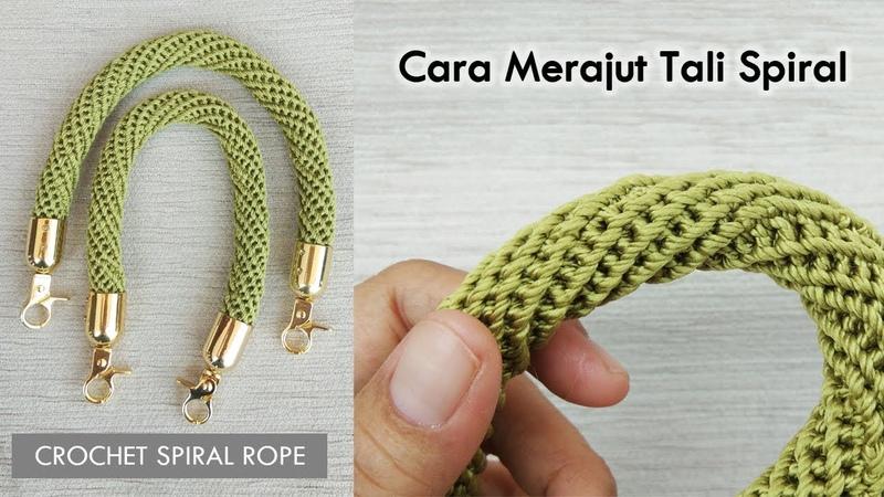 Cara Merajut Tali Spiral Crochet Spiral Rope