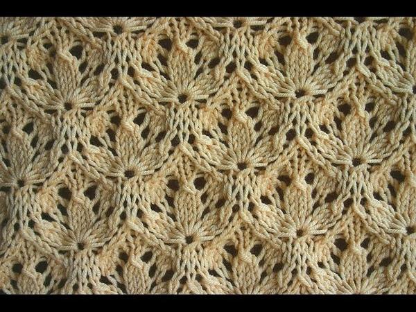 Вязание спицами. Узор - Трилистник ( shamrock pattern)