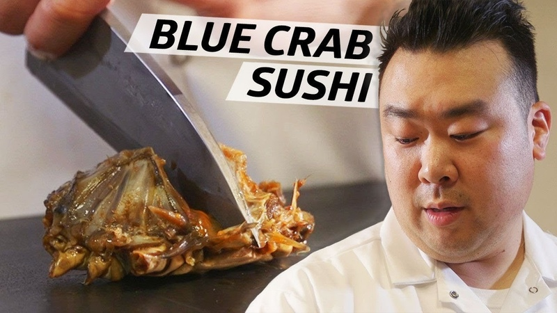 How This Sushi Master Uses Traditional Raw Korean Blue Crab in His Omakase Omakase