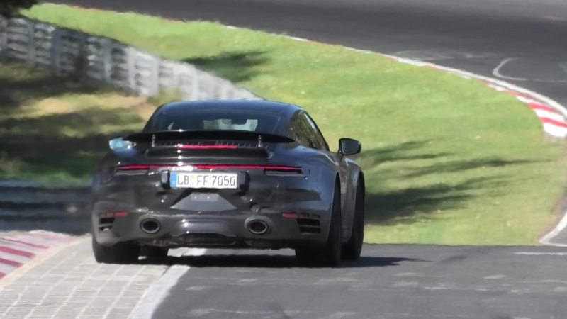 2020 PORSCHE 992 TURBO (580HP) 992 Turbo S (620HP) SPIED TESTING AT THE NÜRBURGRING!