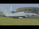 4K German Airforce Eurofighter Typhoon EF2000 Movements at Nörvenich Air Base ETNN