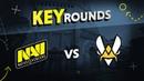 Key rounds: NAVI vs Vitality on Mirage @ IEM Katowice 2019