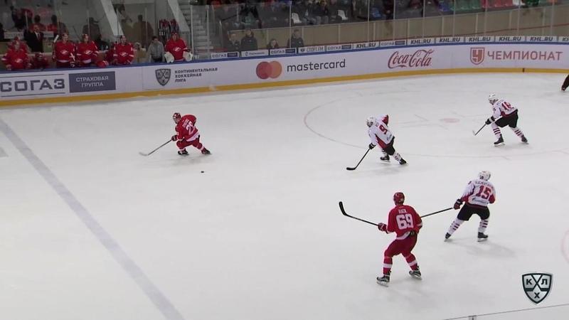 Моменты из матчей КХЛ сезона 17/18/19 • Гол. 0:2. Дерек Рой (Авангард) удвоил преимущество омичей 11.10