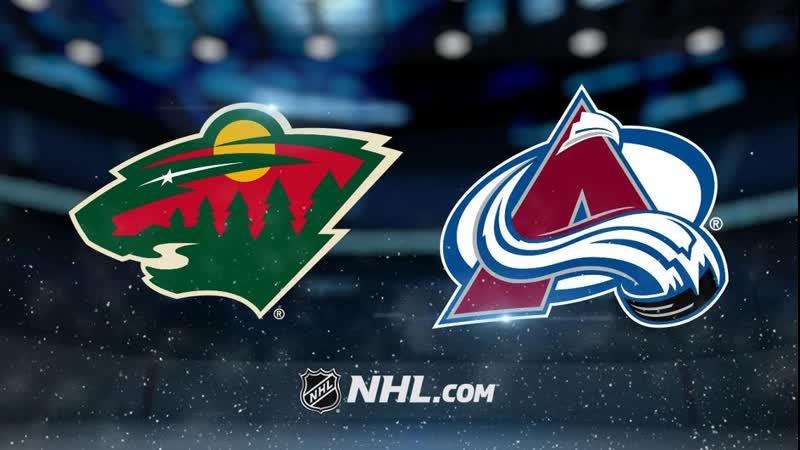 NHL Minnesota Wild vs Colorado Avalanche НХЛ Миннесота Уайлд и Колорадо Эвеланш
