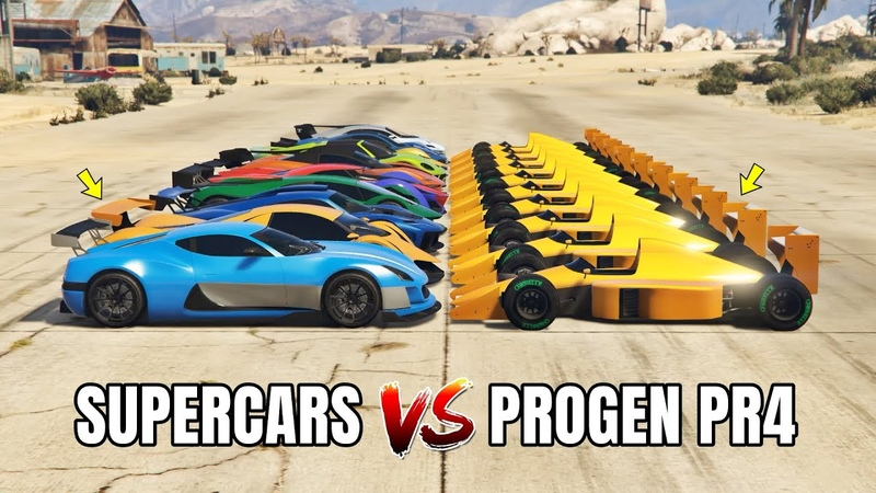 GTA 5 ONLINE - PROGEN PR4 VS SUPERCARS PART01 (WHICH IS FASTEST FORMULA VS SUPERCARS?)