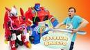 Оптимус и игрушки из мультика Монкарт готовят вместе с Федором Разноцветные макароны