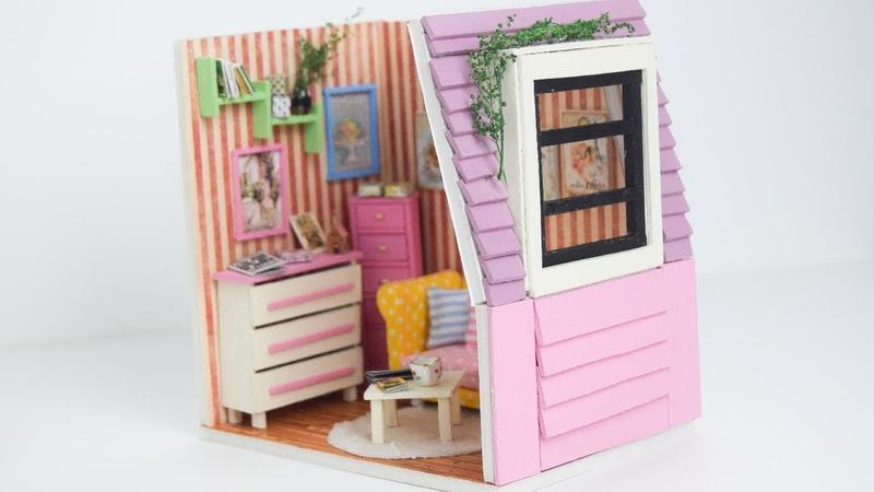 Minyatür Ev Yapımı | Kendin Yap Barbie Evi Yapımı - LambalıKadın