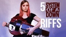 5 System of a Down riffs on hurdy gurdy