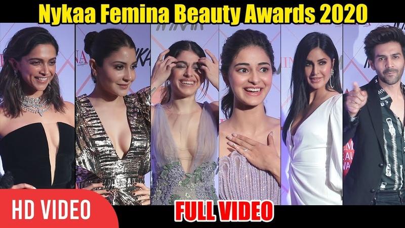 Deepika Padukone Katrina Kaif Anushka Kartik Ananya Panday at Nykaa Femina Beauty Awards 2020