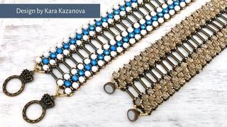 Nefertiti Bracelet Tutorial | DIY & Crafts | Fancy Beaded Netting