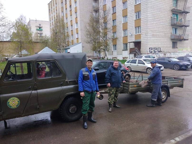 Пограничники Ухты провели субботник, изображение №2
