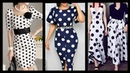 Outstanding most trendyy polka dot middi dresses collection for ladies in black and white