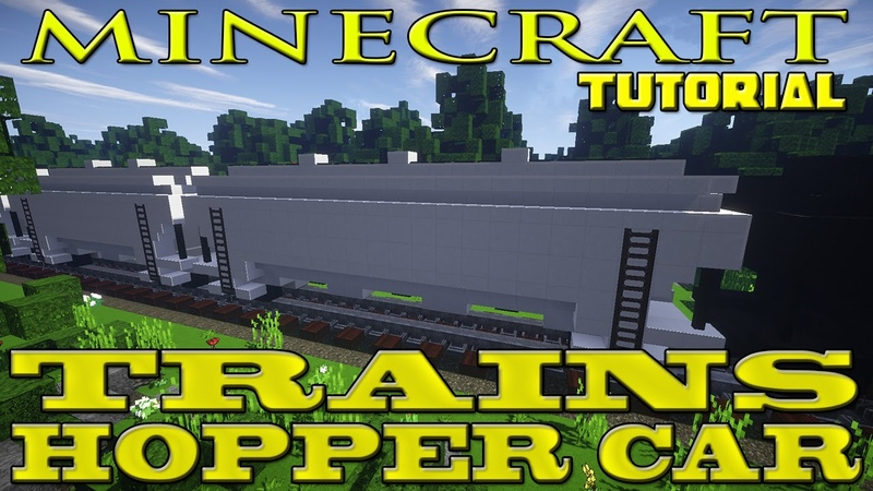 Minecraft Freight Train Car Tutorial Hopper Car