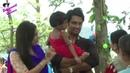 On location of TV Serial 'Madhubala' RK Madhu feeding poor children