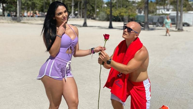 Решил подкатить к бразильянке на пляже Майами...