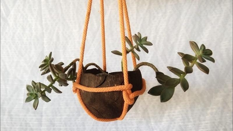 DIY Pendura Vaso em 1 minuto suporte de planta simples e facil