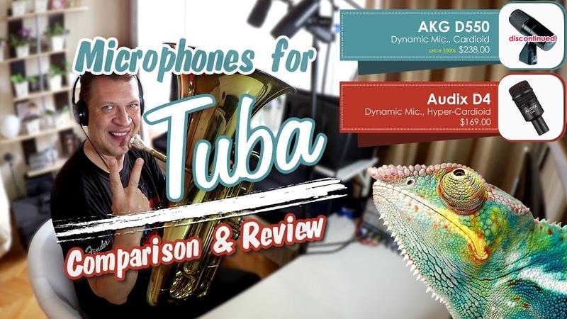 Microphones for tuba, Audix D4 vs AKG D550 - Chameleon (bassline)