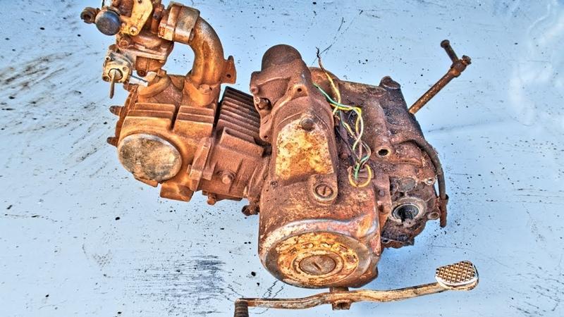 Full Restoration Engine Of 1990 Honda Cub 100EX Restoration Honda Super Cub 100EX Part2