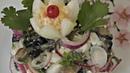 Салат с баклажанами яйцом и маринованным луком Всего лишь 3 ингредиента и салат готов
