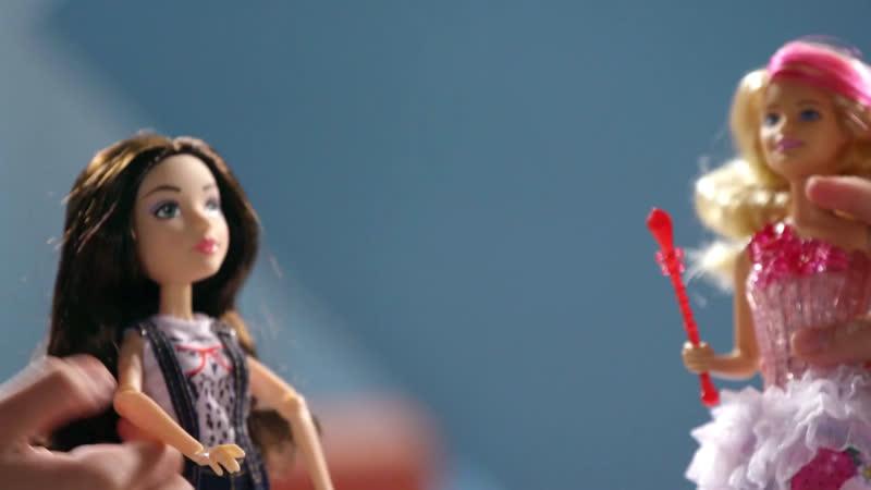 «Игра в 4 руки». Mattel Barbie. Барби «Конфетная принцесса» и кукла МакКейла с набором для экспериментов. (0)