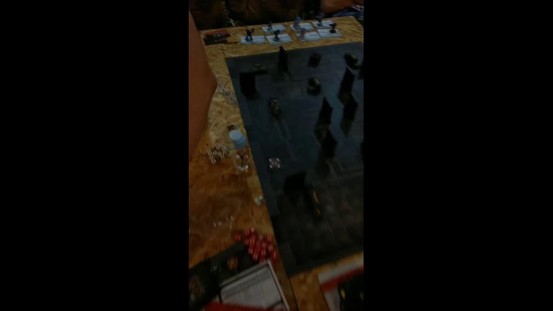 Железные руки против ультрамаринов Альфа Легион killteam
