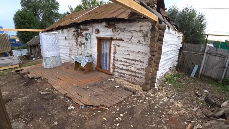 Заехали к тёте в нашу деревню она затеяла строительство большой Пристрой смотрим участок