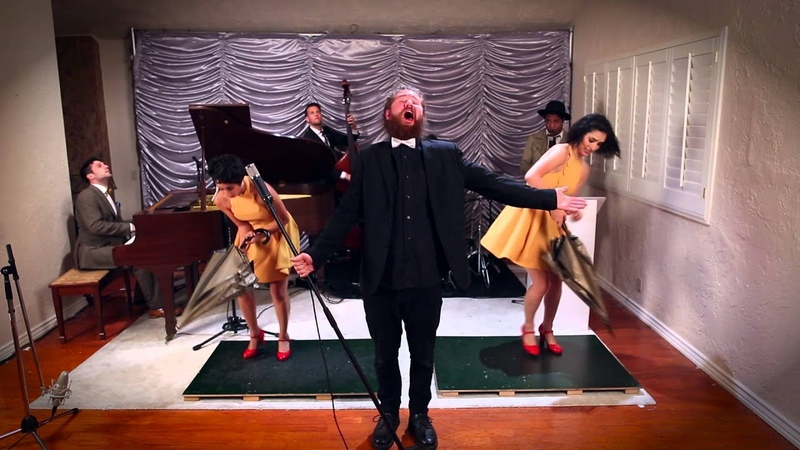 Umbrella Vintage Singin' in the Rain Style Rihanna Cover ft Casey Abrams The Sole Sisters