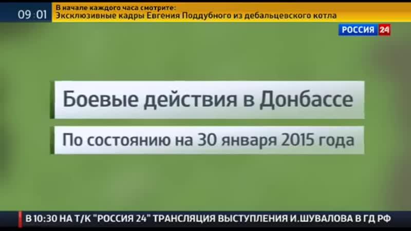 Дебальцевский котел В окружении оказались восемь тысяч украинских военных