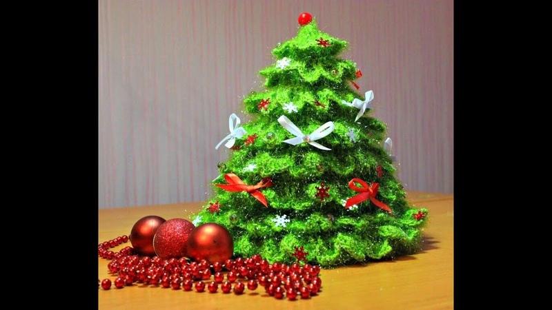 Как связать Елочку крючком ЧАСТЬ 1 ВЯЖЕМ КОНУС. | Knit christmas tree