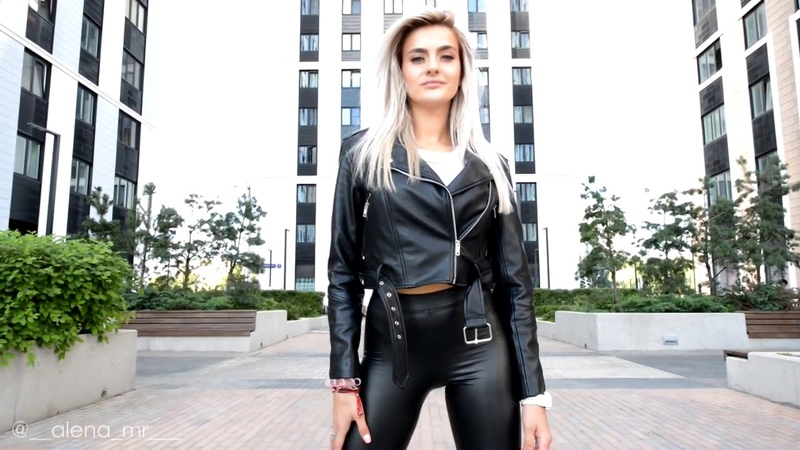 Blonde in high leather boots Thigh Length Boots in leather leggings YouTube