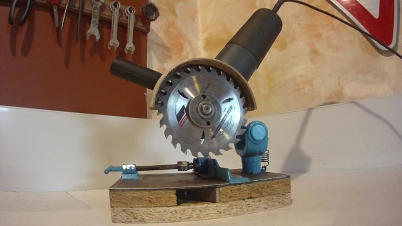 Стойка для болгарки УШМ.Make your own angle grinder stand and metal chop saw