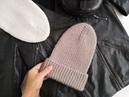 Вязаная шапка-тыковка с макушкой Домик