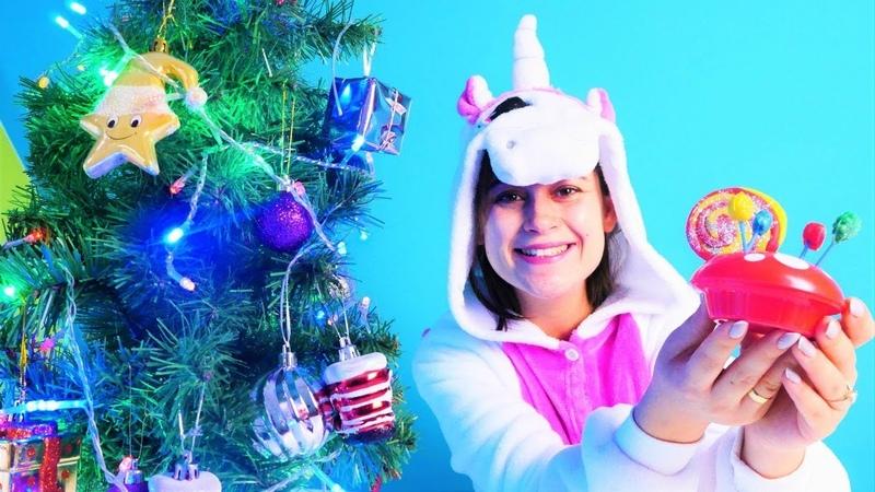 Unicorn oyuncak kafe Ayşe yılbaşı hazırlıkları yapıyor Çocuk videosu