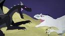 DinoMania Indominus Rex vs Ender Dragon Monster Battle
