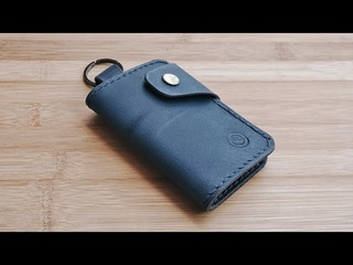Making a Leather License Key Wallet with PDF Pattern