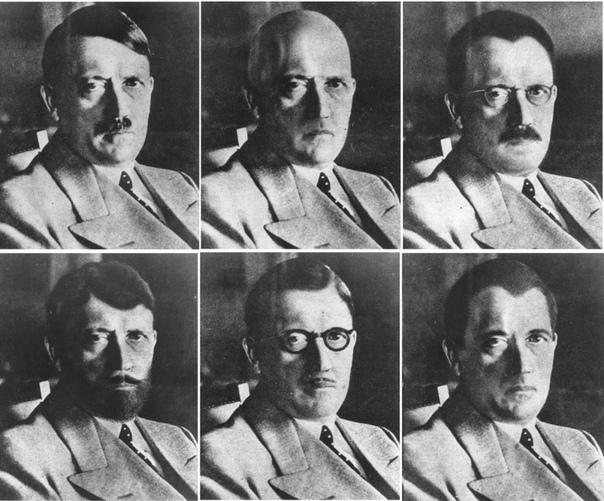 Изображения американской разведки о том, как Адольф Гитлер мог бы замаскироваться в случае побега (1944 год