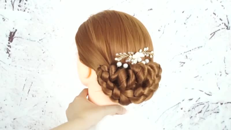 Bun Hairstyle For Wedding Step By Step Beautiful Hairstyle Prom Hairstyle