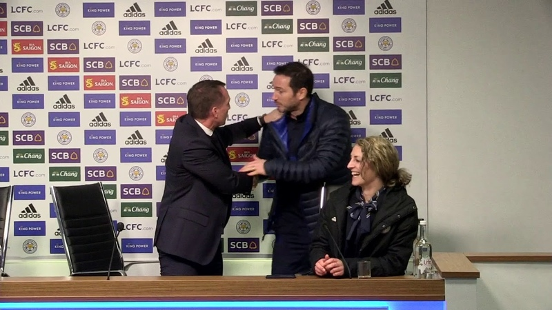 Frank Lampard interrupts Brendan Rodger's post match press conference