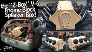 """Z-Box V6"" Engine Block Subwoofer box - Hooked up, tested & pushed to the MAX!"