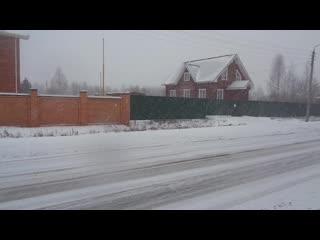 Снегопад в Ананьино! #ГужевTV