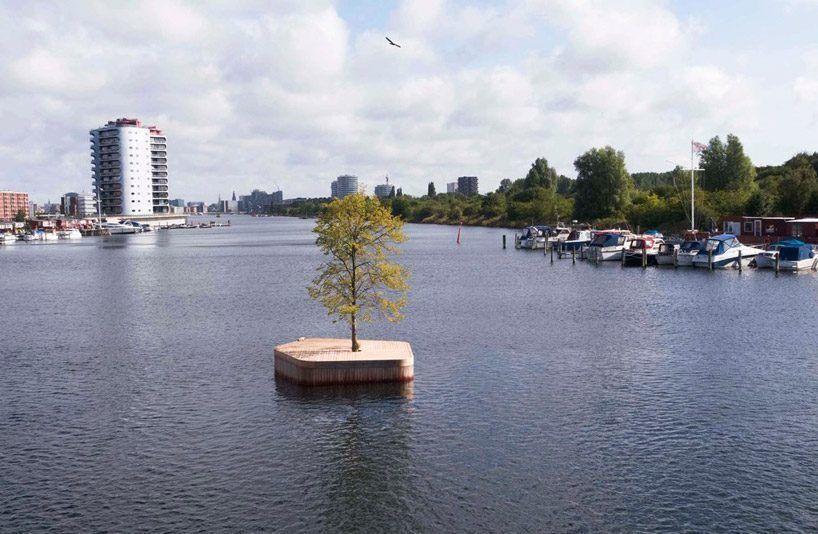 Плавающая платформа marshall blecher и fokstrot стремится обеспечить новый тип общественного пространства в Копенгагене гавани.