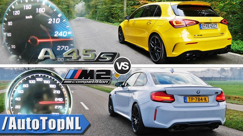 A45 AMG 2020 vs 2020 BMW M2 Competition   0-250kmh ACCELERATION POV SOUND by AutoTopNL